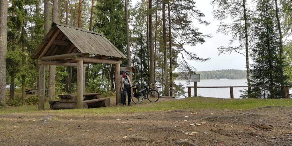 Турстоянка ву озера Сапшо