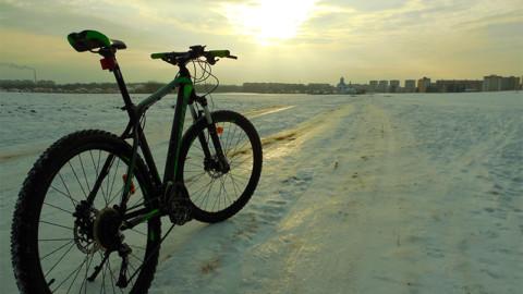 Зимний велотуризм.